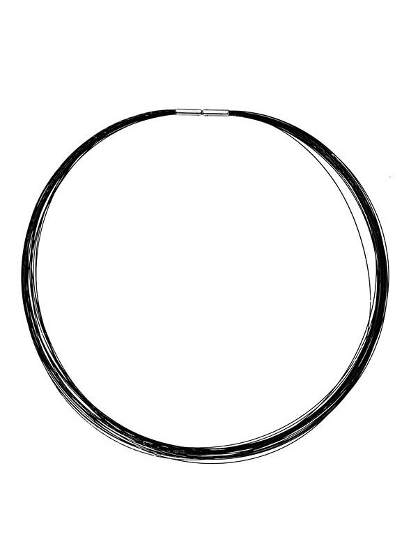 Stainless Steel 25 Cables Black