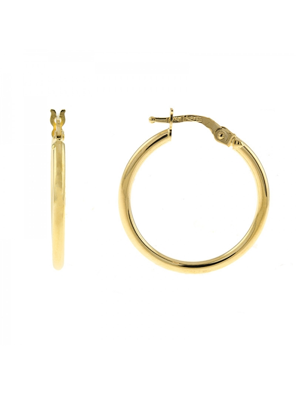 14KT Yellow Hoop Earrings