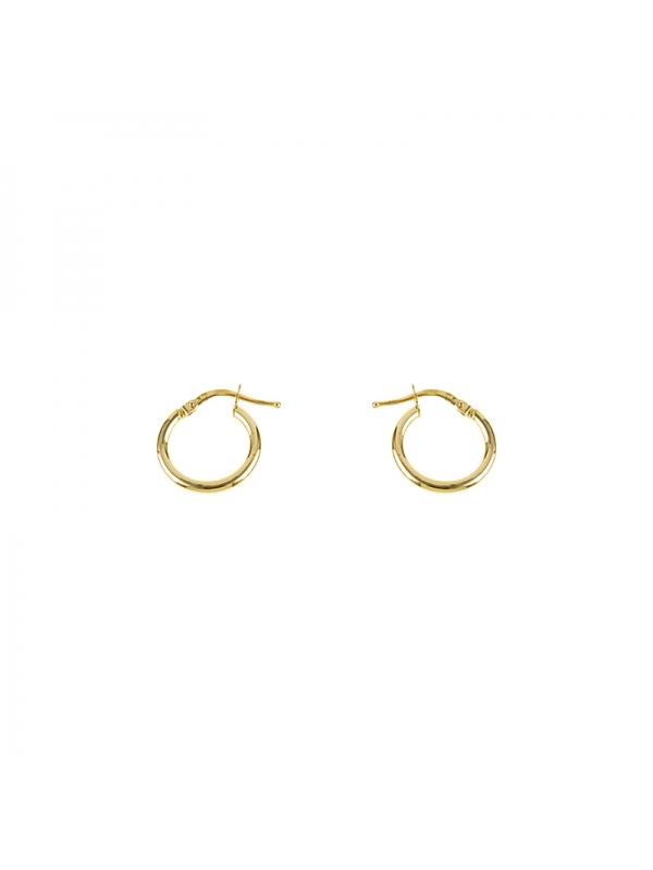 14KT Yellow Hoop Earrings