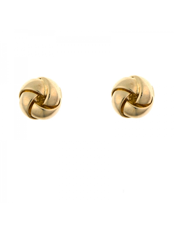 14KT Yellow Twist Knob Earrings