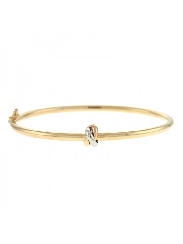 14KT Yellow Tri-color Bangle