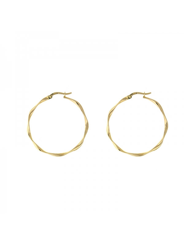 14KT Twisted Hoop Earrings