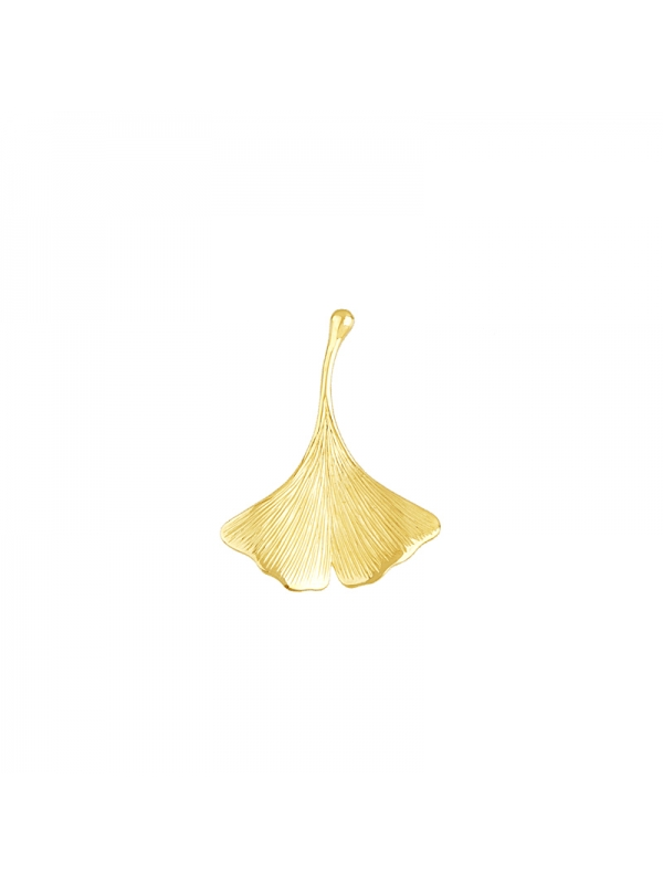 14KT Yellow Leaf Pendant