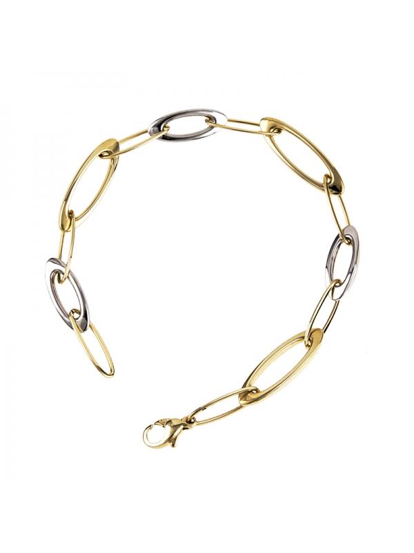 14KT Yellow White Bracelet