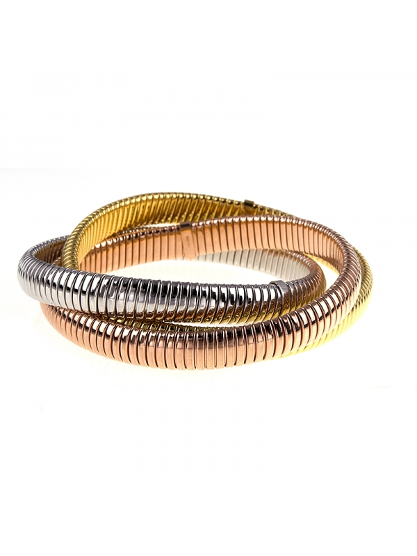 18KT Y/W/P Triple Bracelets 8.5mm