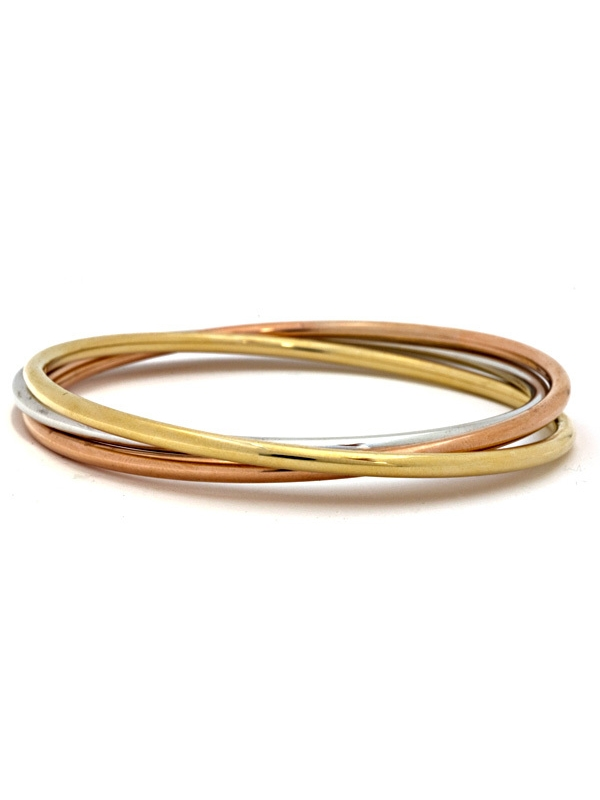 18KT 3-Color Slip-On 2.9mm X 3