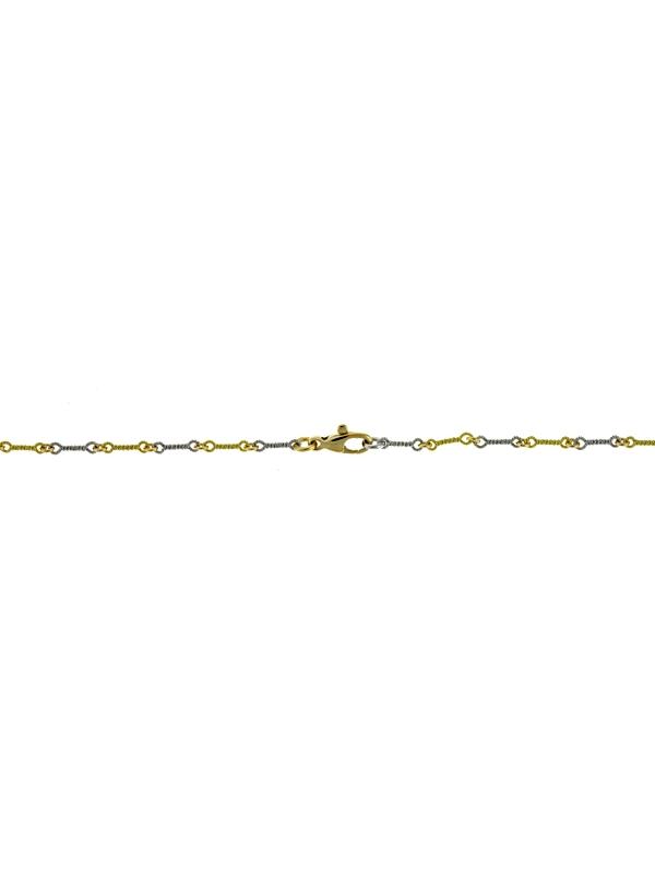 18KT White & Green Twist Link
