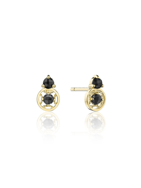 Petite Gemstone Earrings with Black Onyx