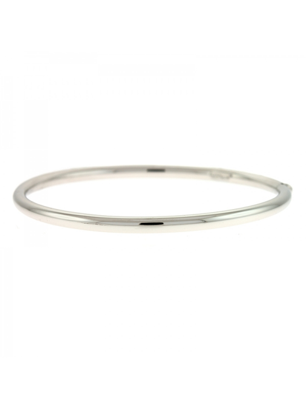 Silver Tube Bangle 4mm