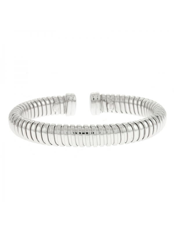 Silver Bangle 9.5MM w/ Steel