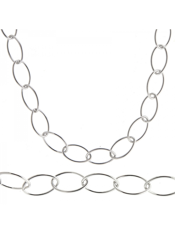 Silver Oval Link 9.2mm