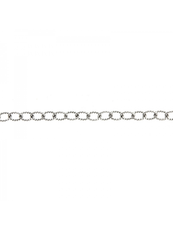 Silver Twisted Link 5.0mm