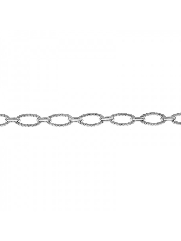 Silver Twisted Link 7.5mm